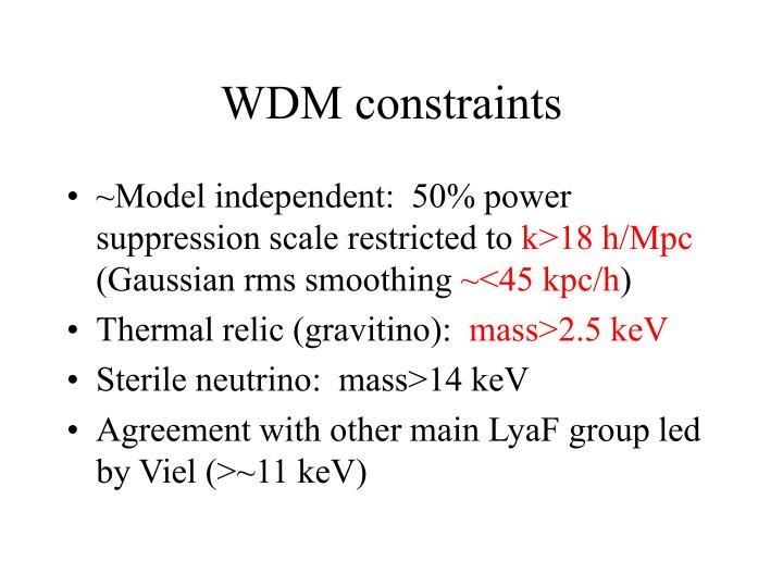 WDM constraints