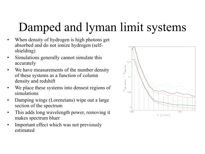 Damped and lyman limit systems