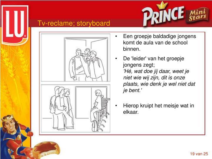 Tv-reclame; storyboard