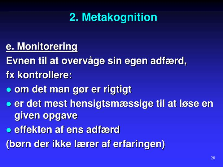 2. Metakognition