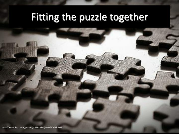 Fitting the puzzle together