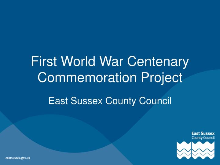 first world war centenary commemoration project n.