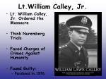 lt william calley jr