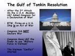 the gulf of tonkin resolution
