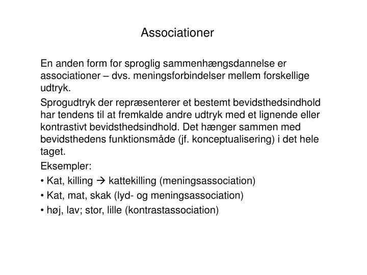 Associationer