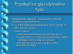 prysky ice glycidylov ho typu