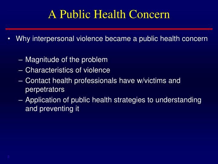 A public health concern
