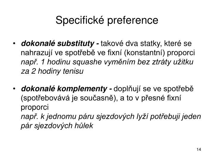 Specifické preference