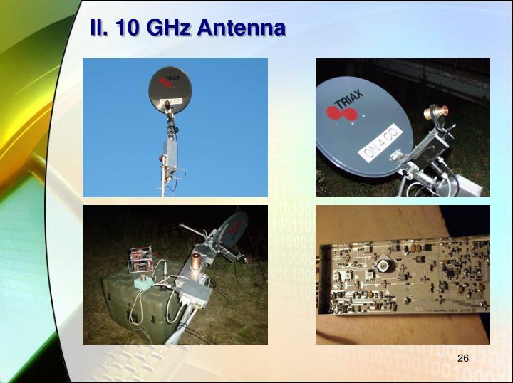 II. 10 GHz Antenna