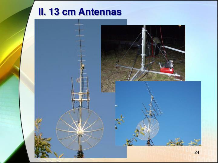 II. 13 cm Antennas