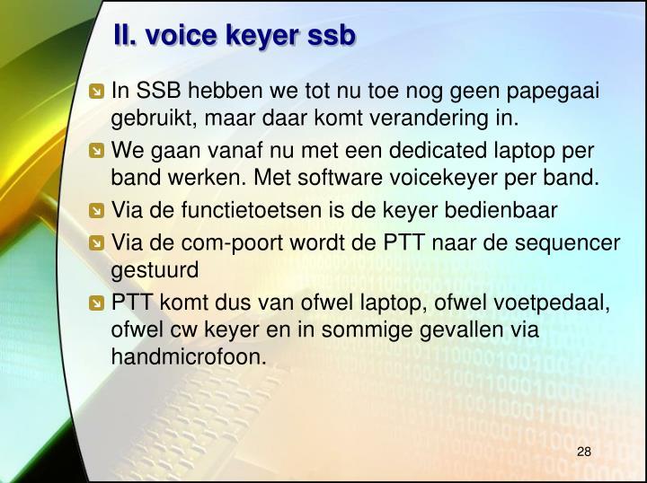II. voice keyer ssb