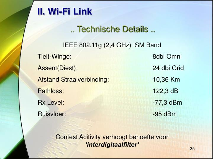 II. Wi-Fi Link