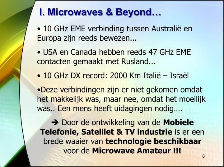 I. Microwaves & Beyond…