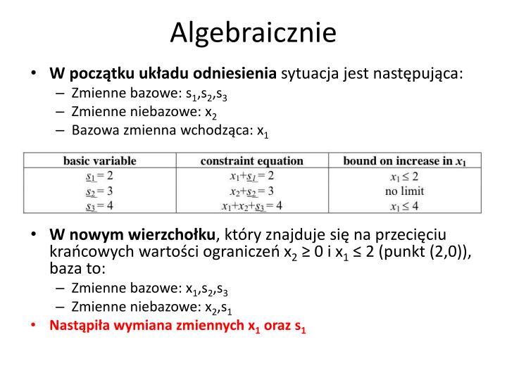 Algebraicznie