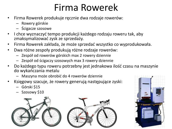 Firma rowerek