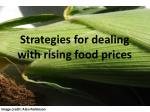 strategies for dealing with rising food prices