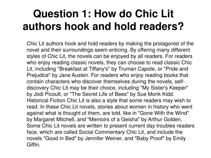 Question 1: How do Chic Lit