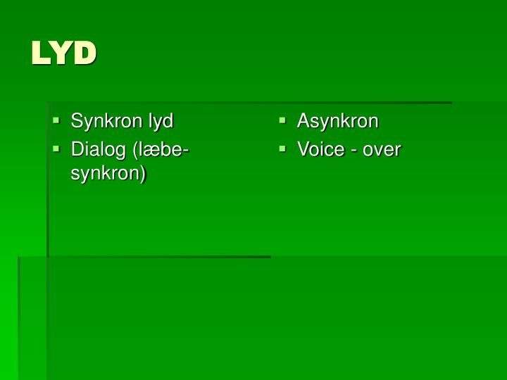 Synkron lyd