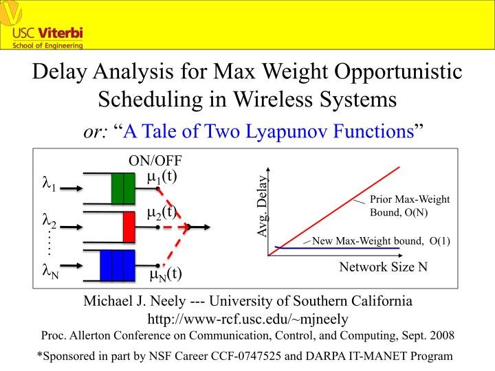 Delay Analysis for Max Weight Opportunistic Scheduling in Wireless Systems