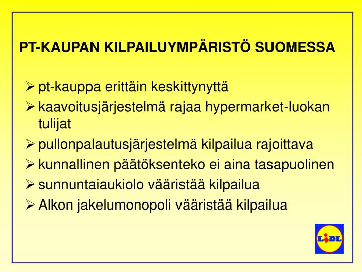Pt kaupan kilpailuymp rist suomessa