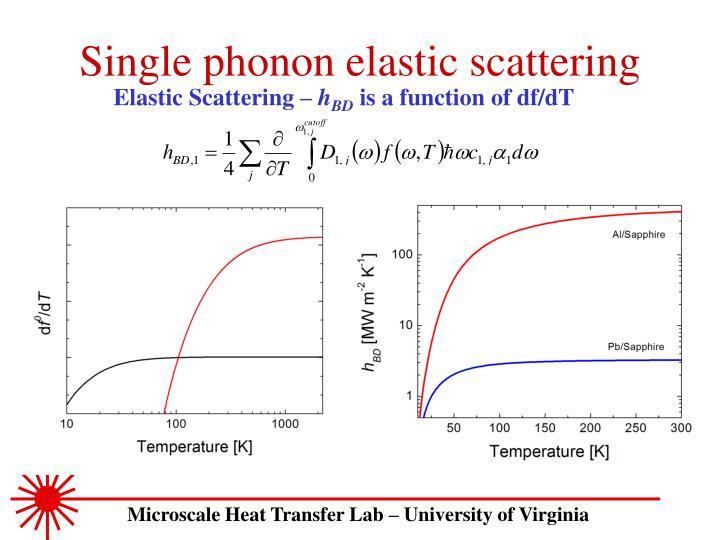 Single phonon elastic scattering