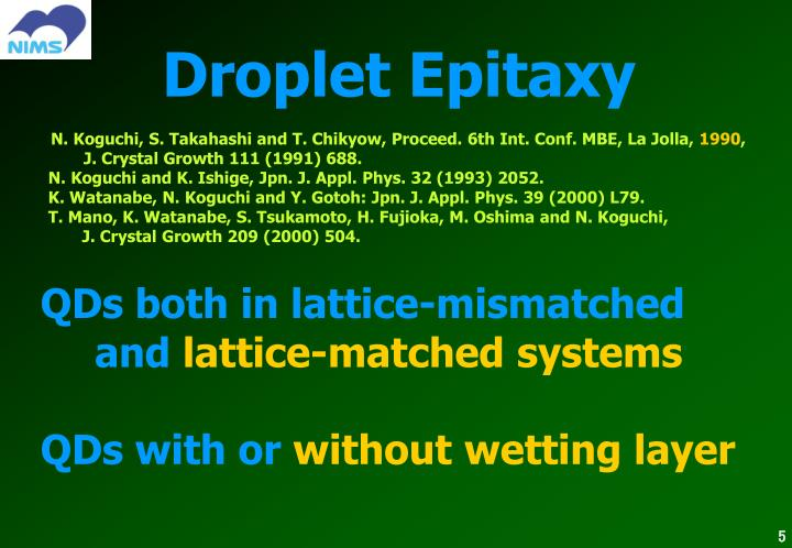 Droplet Epitaxy