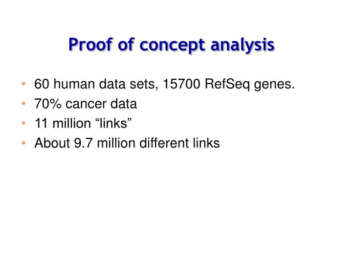Proof of concept analysis