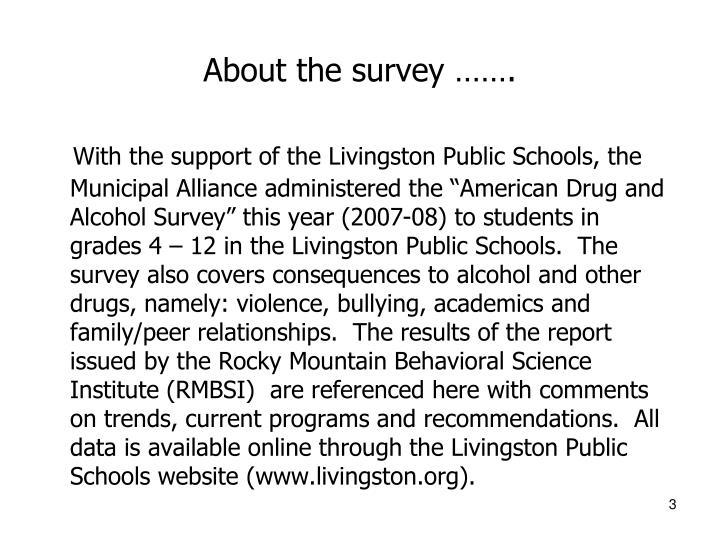 About the survey