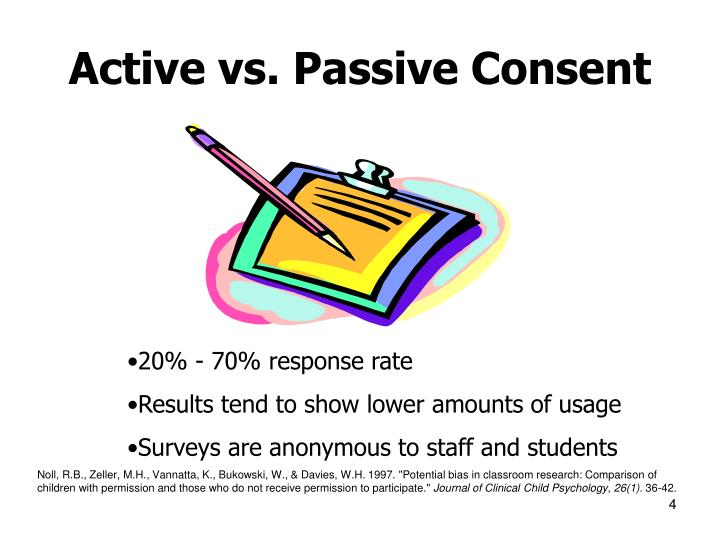 Active vs. Passive Consent