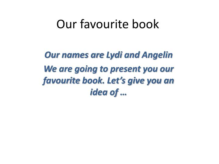 our favourite book n.