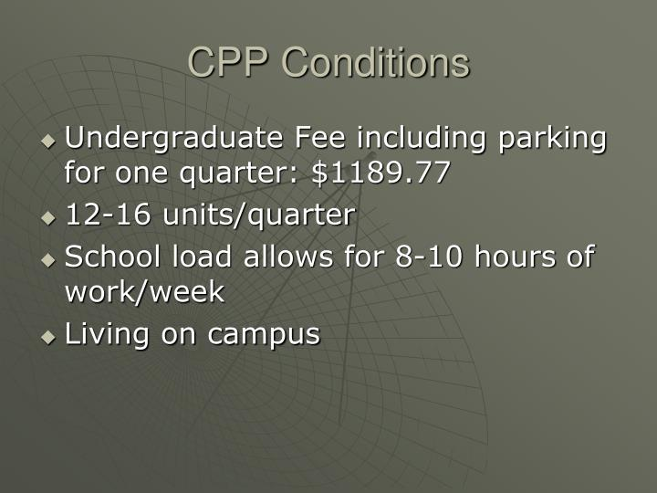 CPP Conditions