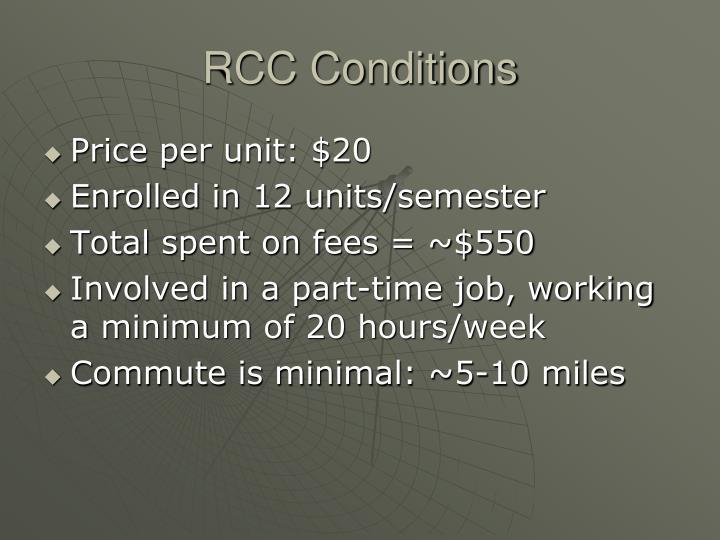 RCC Conditions