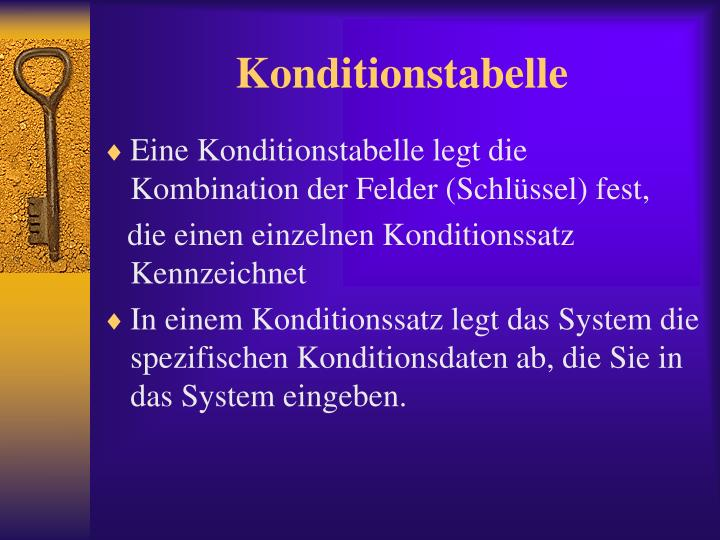 Konditionstabelle