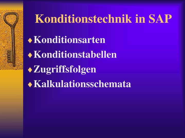 Konditionstechnik in SAP