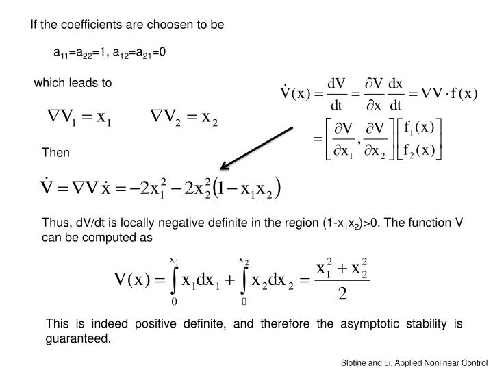 If the coefficients are choosen to be