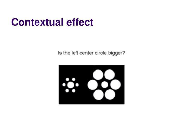Contextual effect
