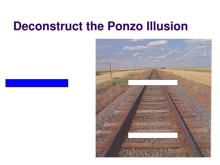 Deconstruct the Ponzo Illusion