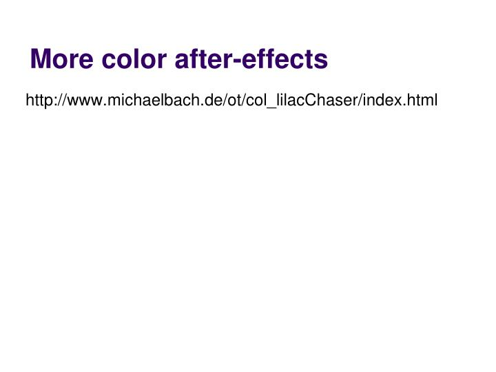 More color after-effects