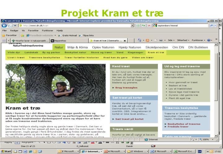 Projekt Kram et træ