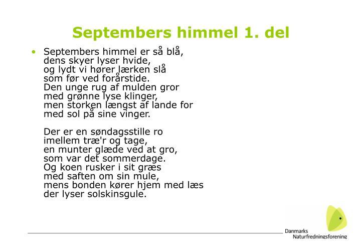 Septembers himmel 1. del
