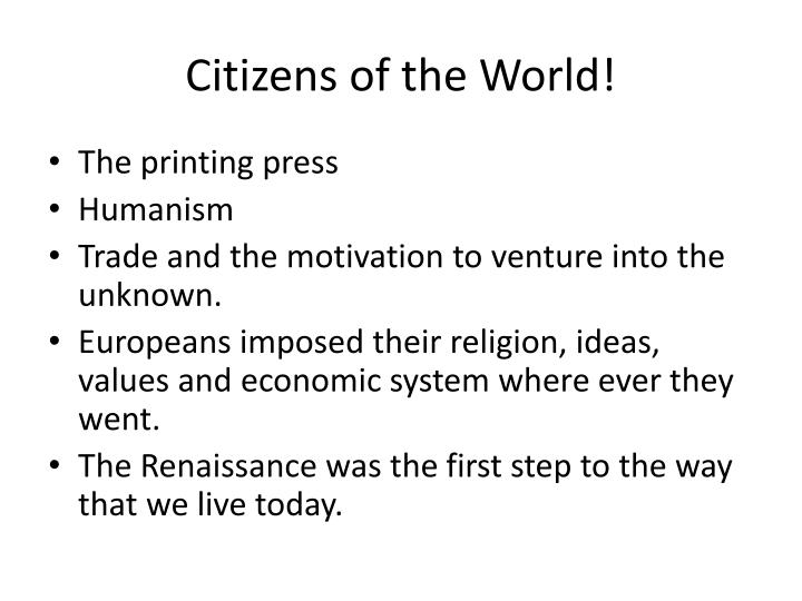 Citizens of the World!