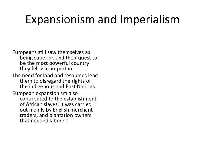 Expansionism and Imperialism