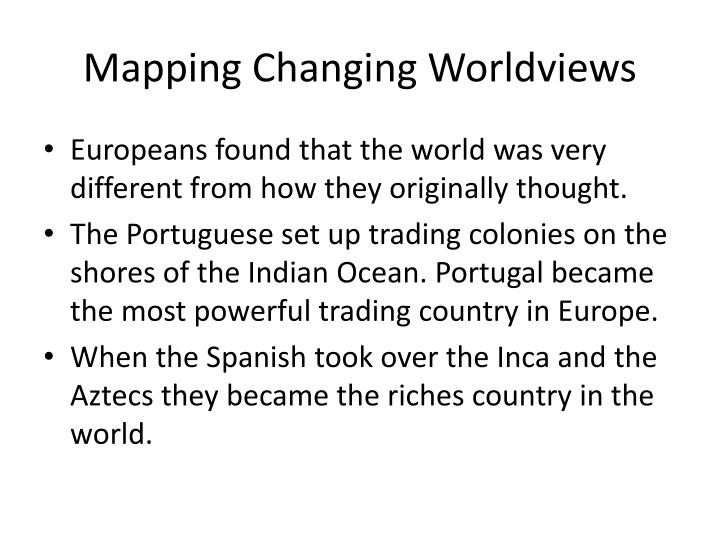 Mapping Changing Worldviews