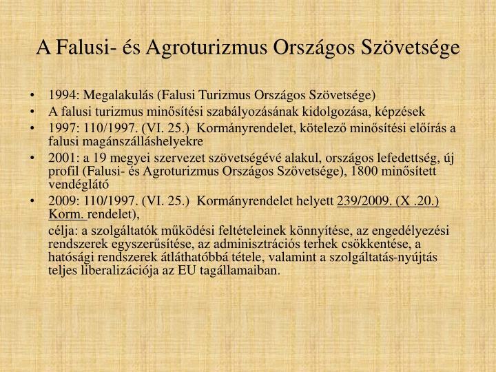 A Falusi- és Agroturizmus Országos Szövetsége