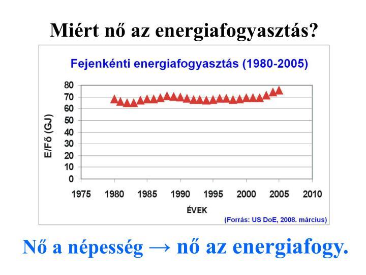 Miért nő az energiafogyasztás?
