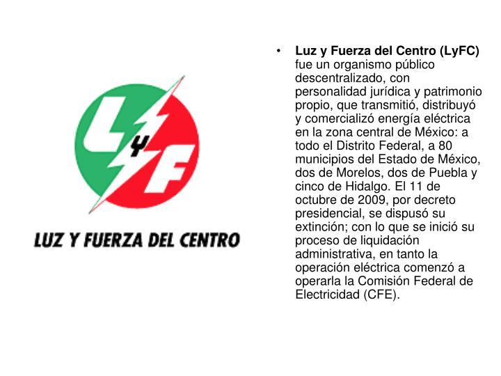 Luz y Fuerza del Centro (LyFC)