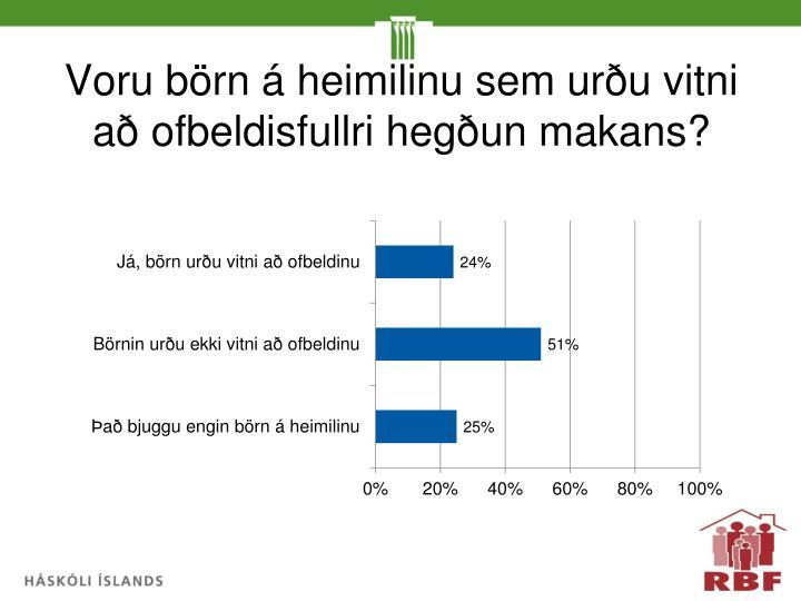 Voru börn á heimilinu sem urðu vitni að ofbeldisfullri hegðun makans?