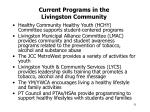 current programs in the livingston community