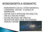 wordsworth a romantic