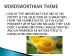 wordsworthian theme